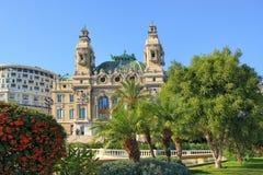 歌剧de蒙特卡洛,摩纳哥。 免版税图库摄影