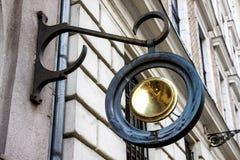 门面装饰元素建筑学在布达佩斯 图库摄影