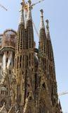 门面La Sagrada Familia 图库摄影
