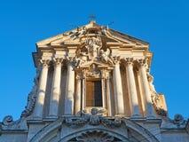 门面Santi温琴佐阿纳斯塔西奥教会Trevi摆正罗马意大利 免版税库存图片