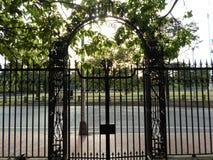 1870门,哈佛围场,哈佛大学,剑桥,马萨诸塞,美国 免版税图库摄影