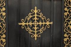门,锻铁装饰 免版税库存图片