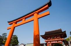 门, fushimi inari寺庙 免版税库存照片
