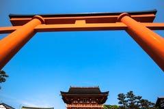 门, fushimi inari寺庙 免版税库存图片