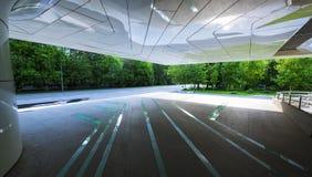 门廊萨哈・哈帝项目建立的商业中心  免版税图库摄影