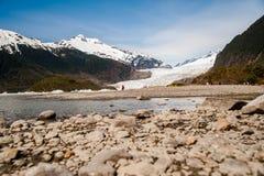 门登霍尔阿拉斯加冰川 免版税库存照片