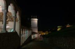 门廓Lippomano在夜之前 库存照片
