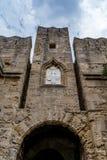 门d'Amboise在罗得岛,希腊 库存照片