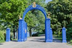 门Djurgardsbrunnsviken斯德哥尔摩 免版税库存图片