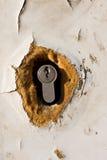 门grunge锁定 图库摄影