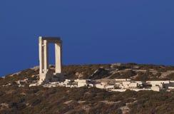 门naxos寺庙 免版税库存图片