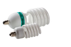 闪亮指示能源节约  免版税图库摄影