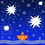 闪亮指示被点燃的星形 皇族释放例证