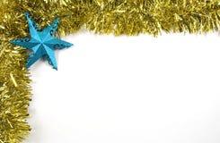 闪亮金属片和星圣诞节装饰 免版税库存图片