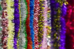 闪亮金属片的五颜六色的多颜色背景的 库存图片