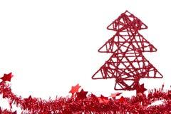 闪亮金属片结构树xmas 免版税库存照片
