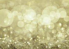 闪光的银色光和星形 库存例证