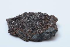 闪光矿物闪锌矿石头 免版税库存照片