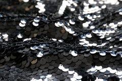 闪光金属片的织品纹理 免版税库存图片