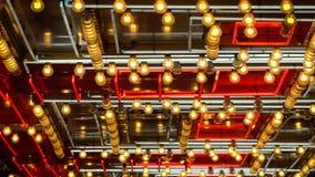闪动在拉斯维加斯的霓虹灯的样式 免版税库存照片