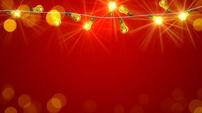 闪动的圣诞节电灯泡 免版税库存照片