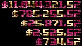 闪动的赌博娱乐场老虎机困境数字 向量例证