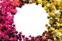 闪烁五彩纸屑框架 库存图片