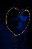 闪烁发光物心脏 库存照片