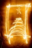 闪烁发光物框架 库存照片