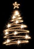 闪烁发光物结构树 库存照片