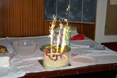 闪烁发光物蛋糕 库存照片