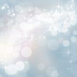 闪烁圣诞节冬天点燃背景 免版税图库摄影