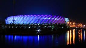 闪烁在体育场内 免版税库存图片