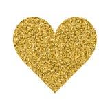 闪烁情人节在白色背景的爱心脏 免版税库存照片