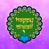 闪烁愉快的diwali框架 库存照片