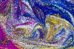 闪烁油漆漩涡豪华抽象背景  免版税库存照片