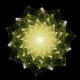 闪烁的多面体的自转 犹太神秘哲学标志 图库摄影
