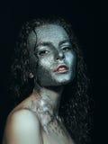 闪烁的女孩 图库摄影