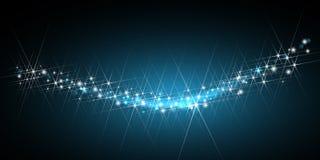闪烁的星形线索 库存例证