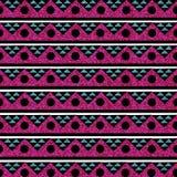 闪烁部族背景无缝的图象绿松石桃红色 免版税库存图片