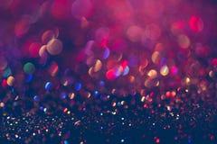 闪烁金bokeh Colorfull弄脏了bir的抽象背景 免版税库存照片