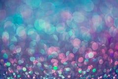 闪烁金bokeh Colorfull弄脏了bir的抽象背景 库存图片