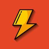 闪电光芒或螺栓图象 库存例证