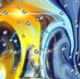 闪电和五颜六色的空间,背景 免版税库存图片