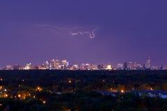闪电在温尼培 库存图片