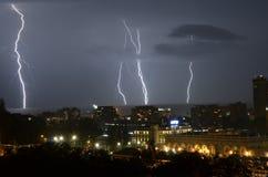 闪电在索契 免版税图库摄影