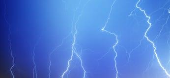闪电天空 库存照片