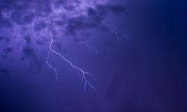 闪电天空 库存图片