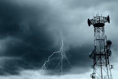 闪电无线电波 免版税图库摄影