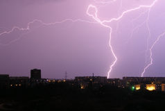 闪电晚上 图库摄影